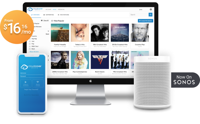 Stream music from anywhere, on your mobile device, web, Sonos or CloudBox